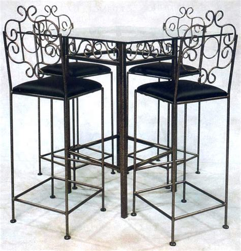 Glass And Wrought Iron Dining Table Wrought Iron Pub Table Base Add Glass Top Contemporary Dining Tables By Ivgstores