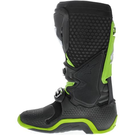 green motocross boots alpinestars new 2017 mx tech 10 dirt bike black