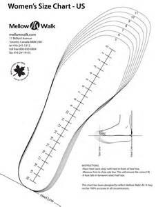 Printable shoe measuring template printable women shoe size chart