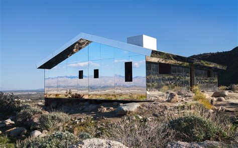 mirrored house this mirrored house blends right into the desert travel leisure