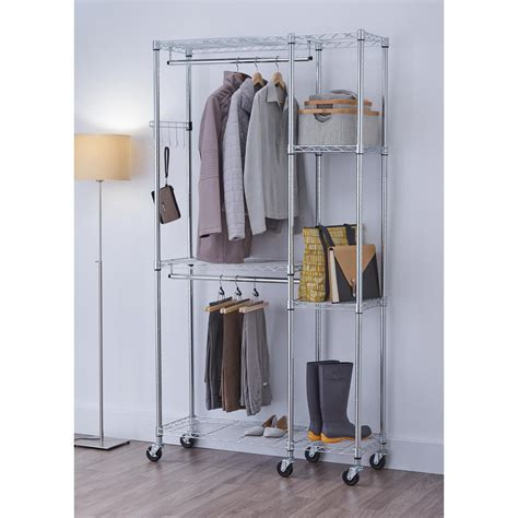 Steel Closet Organizer by Ecostorage 77 In H X 41 In W X 14 In D Chrome