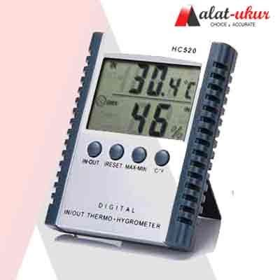 Alat Pengukur Tingkat Pencahayaan Ruangan Meter alat pengukur indoor outdoor thermometer hygrometer hc 520