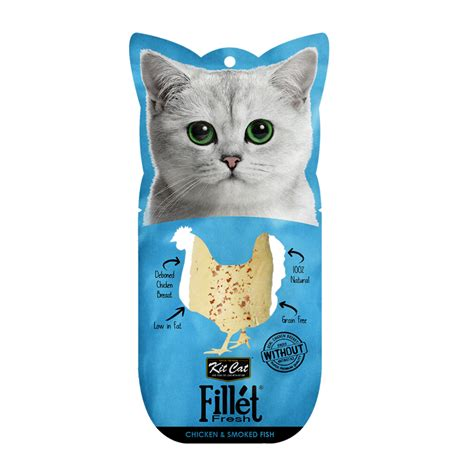 Sale Cat Snack Kitcat Fillet Tuna Smoked Fish 30gr kit cat fillet fresh chicken and smoked fish kitcat