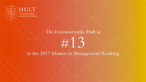 Hult Mba Ranking 2017 by Hult Reviewed As 13th Best By The Economist Hult