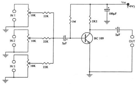 Mixer Audio Sederhana electronic