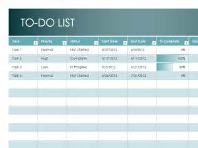Monthly Task List Template Excel by Weekly To Do List Template Excel To Do List Template