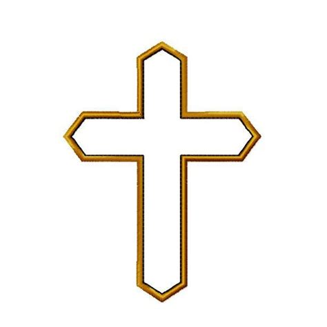 embroidery design cross cross applique machine embroidery design pattern in 5 sizes