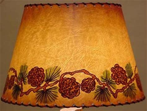 pine cone l shade joan lagoy hand painted pinecone lampshade cowboy classics