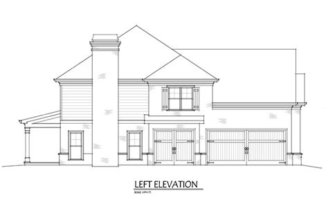 2 Story Floor Plans With Garage by Two Story 4 Bedroom Home Plan With 3 Car Garage