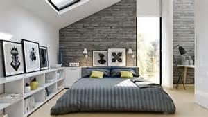 Bright modern loft bedroom design and decor ideas