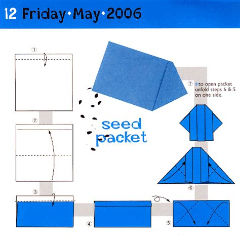 Origami Seed Envelope - caustic musings 187 search results 187 seed packet