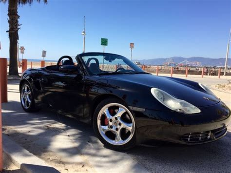 black porsche convertible 2001 porsche boxster 986 black 2 door convertible sports