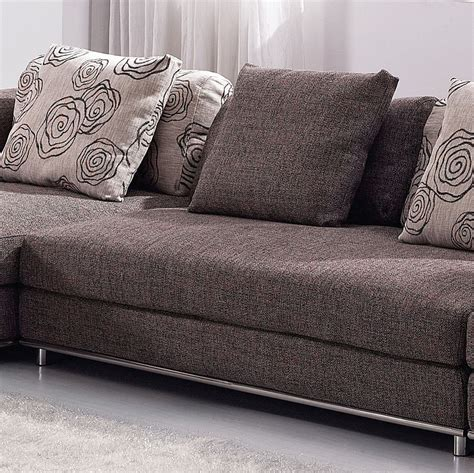 Modern Fabric Sofa Contemporary Brown Fabric Sectional Sofa Set W Modern