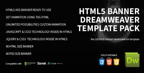 Html5 Banner Template Html5 Banner Dreamweaver Bundle Template By On3 Step Codecanyon