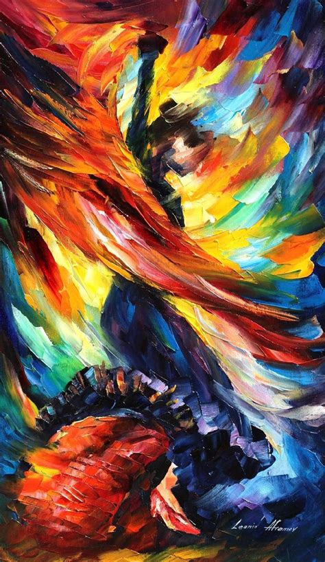 beautiful painting beautiful palette knife painting on canvas by