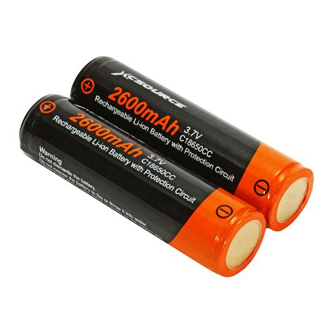 Batre 3 7 V Li Ion 2x18650 akku li ion batterie 3 7 v 2600mah wiederaufladbar