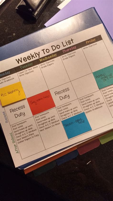 Keeping Myself Organized Each Week Template Note And Maths Editable Post It Note Template
