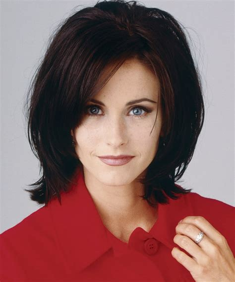 black bob hairstyles 1990 january 1 1990 courteney cox through the years us weekly