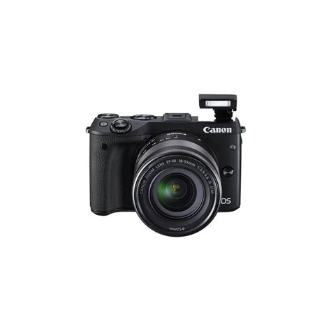 Canon Eos M3 Mirrorless canon eos m3 mirrorless with ef m 18 55mm is stm lens black