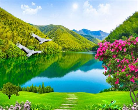 beibehang custom wallpaper beautiful rivers  mountains