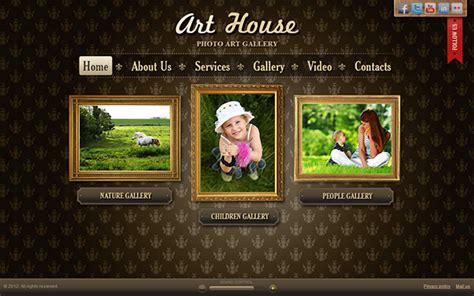 Art House Art Gallery Html5 Template On Behance Html Gallery Template