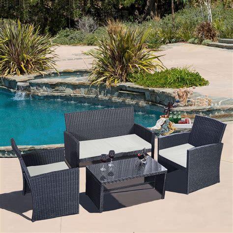 4 wicker patio furniture convenience boutique outdoor wicker rattan patio furniture set 4 pieces