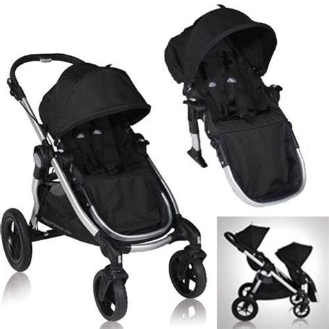 city select double stroller recline baby jogger city select stroller with 2nd seat onyx baby