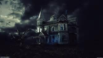 haunted house wallpaper