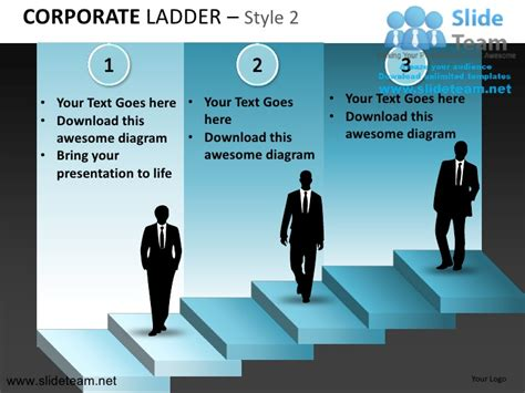how to set up a powerpoint template business corporate ladder design 2 powerpoint ppt slides