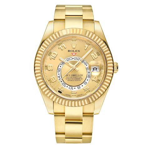 326938 pre owned rolex sky dweller yellow gold