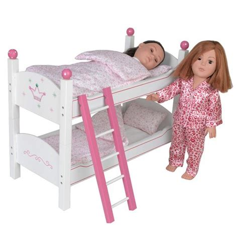 Bunk Bed For Dolls 18 Inch 18 Inch Doll Wish Crown Bunk Bed Furniture Beds Fit 18 Quot American Dolls 69 99
