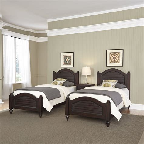 home styles 5542 4024 bermuda two twin beds and night