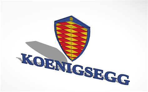 koenigsegg car logo 3d design koenigsegg sports car logo tinkercad