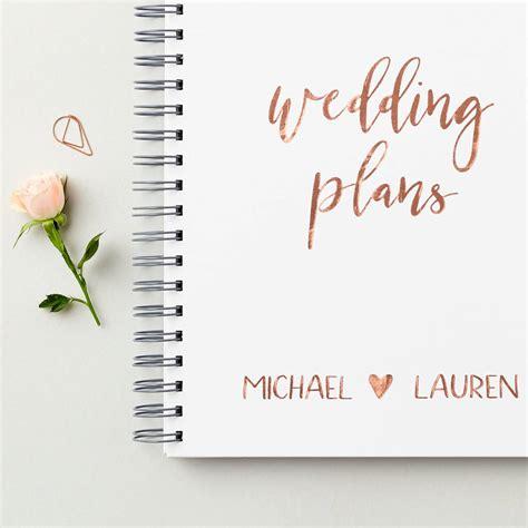 wedding plans personalised script wedding plans book by martha brook