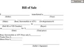 download atv bill of sale for free formtemplate