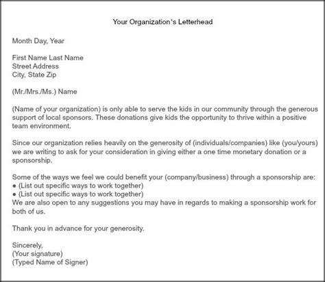 Sponsorship Letter Cheerleading How To Get Team Sponsorships There Letter Sle And How To Get