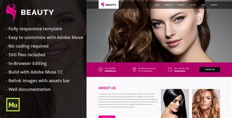 exles of hair websites beauty responsive hair and beauty salon template by