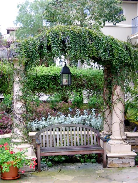 pergola bench arbor bench patio ideals pinterest gardens