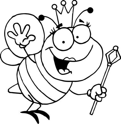 Coloring Page Of Bee by Free Printable Bumble Bee Coloring Pages For