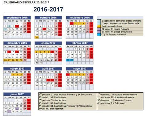 Calendario 2016 Y 2017 Calendario Escolar 2016 2017 Preg 250 Ntale Al Profesor