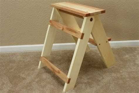 foldable wooden step stool pattern  woodworking
