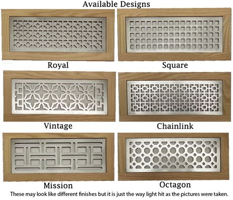 decorative wall registers and vents metal flush mount return grill decorative floor vent cover