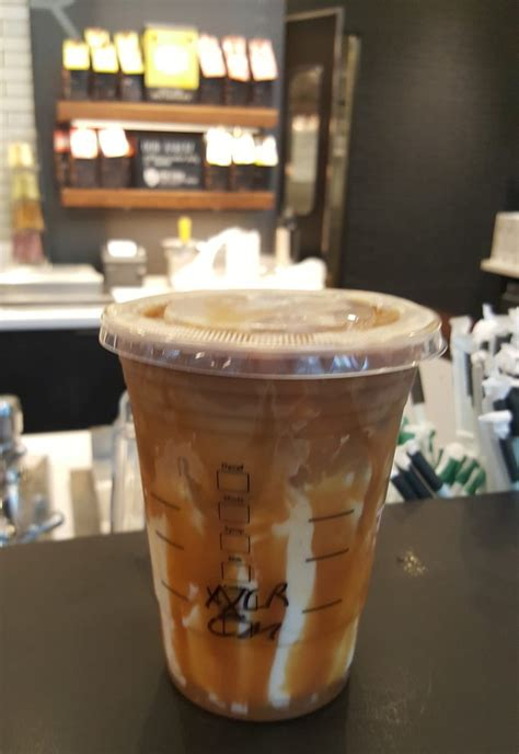 Iced Coffee Starbucks understanding your iced caramel macchiato stirred