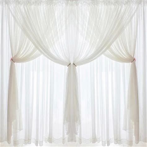Dj Korean Princess Luxury White Lace Custom Curtains Voile