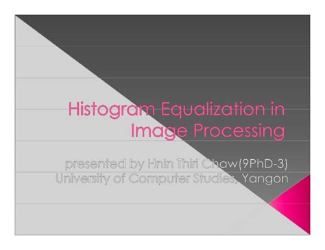 ppt themes for image processing histogram equalization image processing presentation