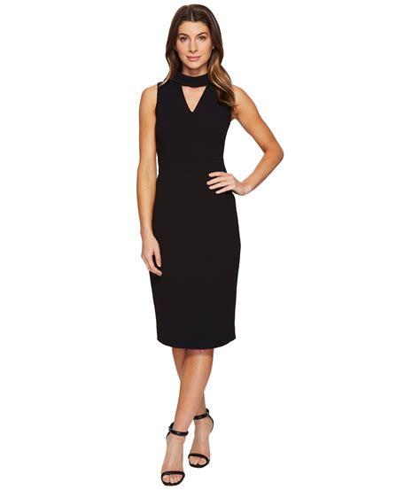 Ivanka Black Dress ivanka midi scuba crepe dress in black lyst
