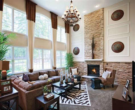 home design story rooms living room with high ceiling chandelier zillow digs