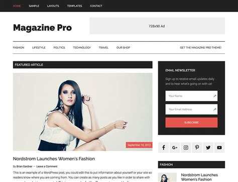 online magazine layout exles 45 best magazine wordpress themes 2018 athemes