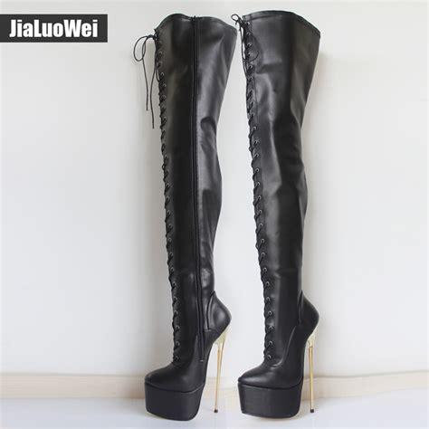 ultra high heel boots jialuowei 22cm ultra high heel gold metal heels pu leather