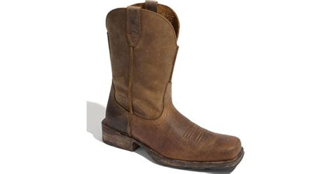ariat rambler boot in brown for lyst